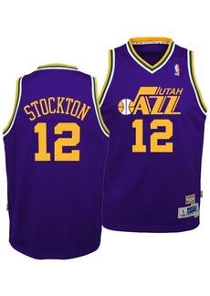 adidas Big Boys John Stockton Utah Jazz Retired Player Swingman Jersey