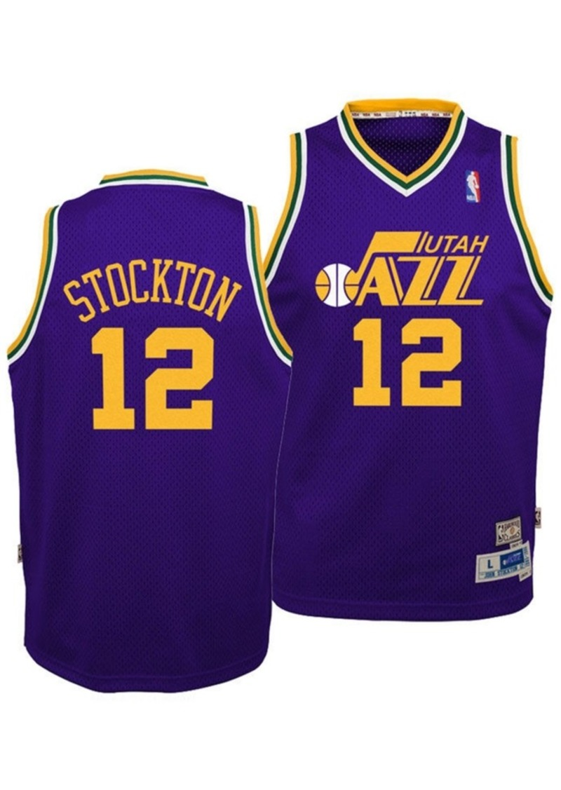 adidas Big Boys John Stockton Utah Jazz Retired Player Swingman Jersey