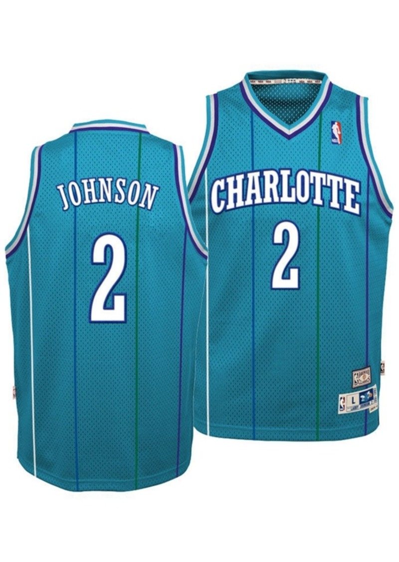 adidas Big Boys Larry Johnson Charlotte Hornets Retired Player Swingman Jersey