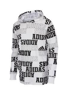 adidas Big Boys Long Sleeve Collegiate Hooded Tee