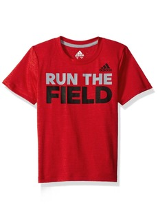 adidas Big Boys' Run The Game Tee  S