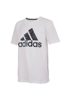 adidas Big Boys Short Sleeve Classic Badge of Sport Tee