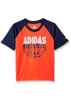 Adidas Boys' Big Short Sleeve Graphic Tee Shirts Basketball Solar Red