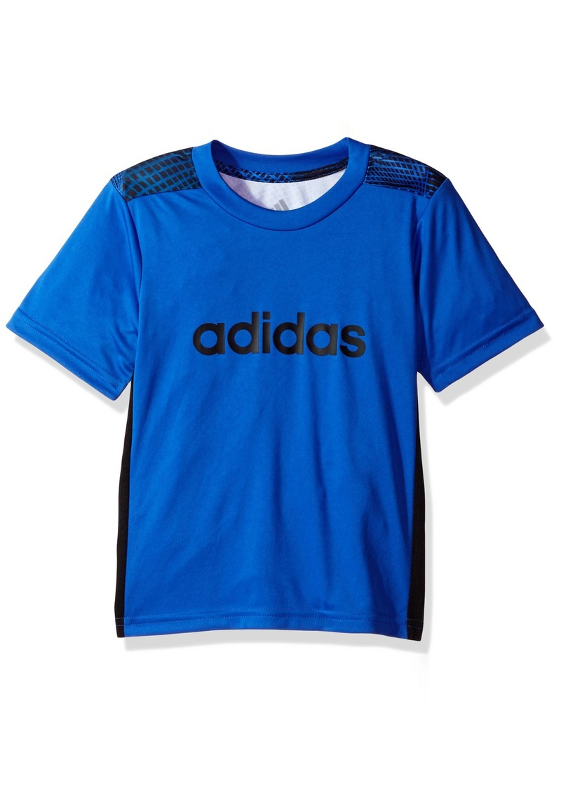 Adidas Boys' Big Short Sleeve Graphic Tee Shirts Hi/Resolution Blue