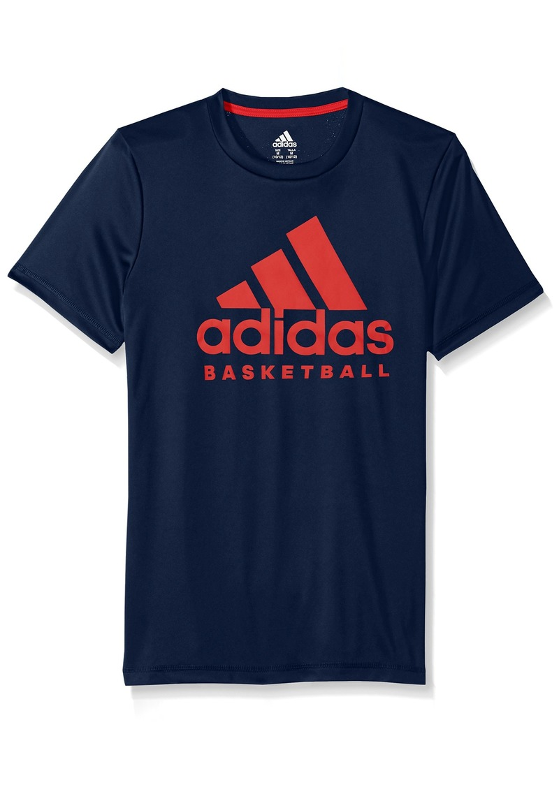 Adidas Boys' Big Short Sleeve Graphic Tee Shirts