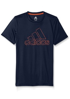 adidas Big Boys' Short Sleeve Logo Tee Shirt