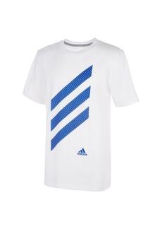 adidas Big Boys Short Sleeve Sport Stripe Tee