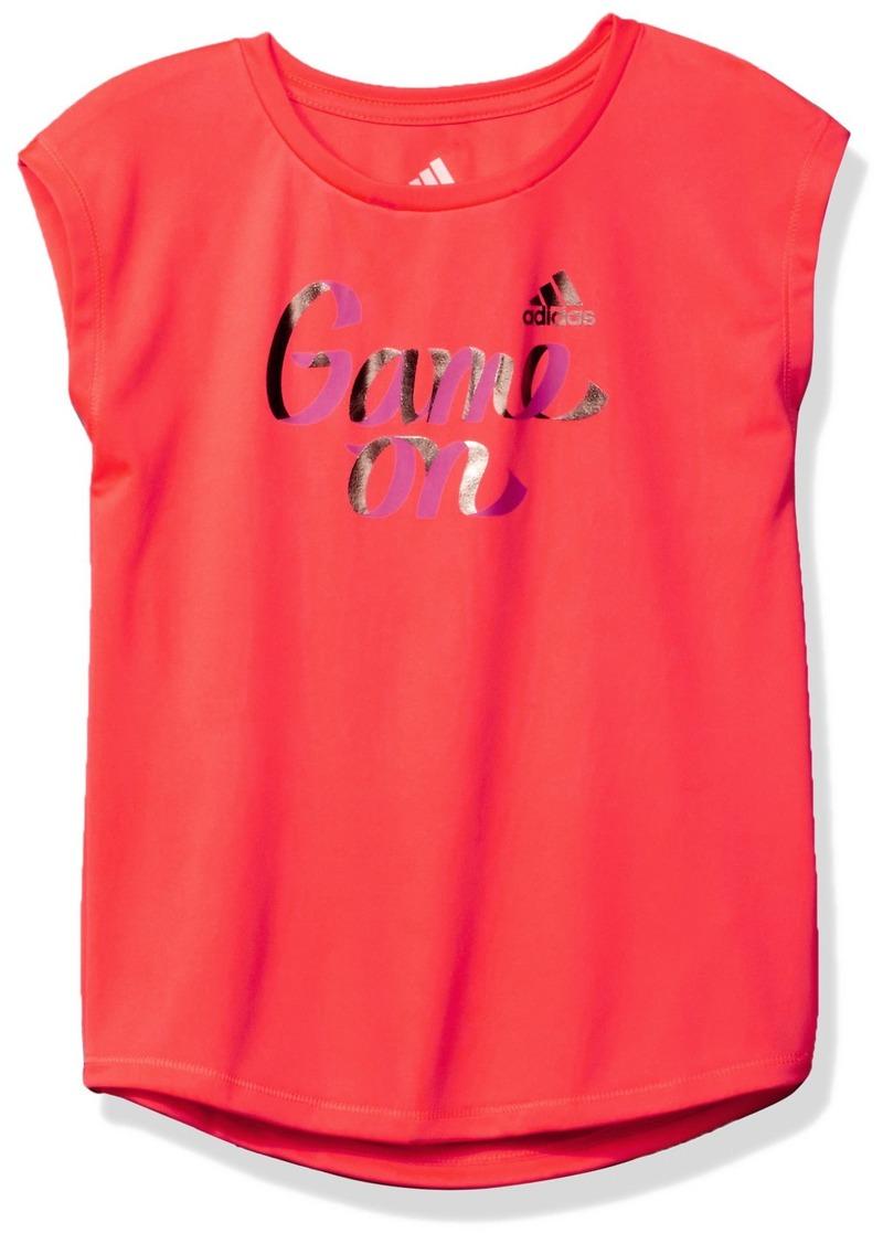 adidas Big Girls' Cap Sleeve Tee Shirt  XS