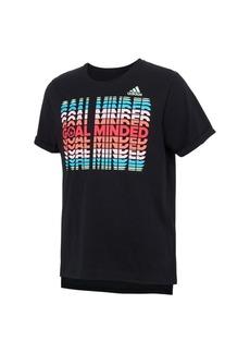 adidas Big Girls Short Sleeve Boxy T-shirt