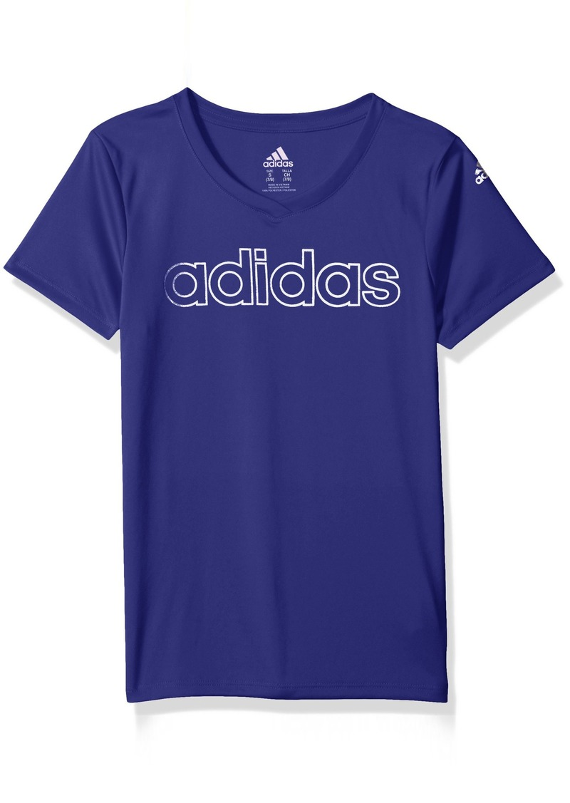 Adidas adidas Girls  Big Short Sleeve Graphic Tee Shirts  855fbf95e