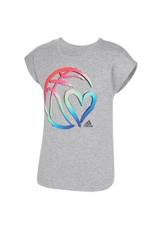 adidas Big Girls Short Sleeve Slit T-shirt