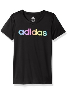 adidas Girls' Big Short Sleeve Graphic Tee Shirts  M (10/12)