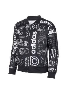 adidas Big Girls Zip Front Print Tricot Jacket