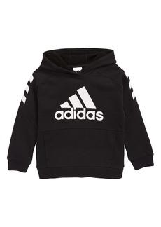 adidas Block Fleece Hooded Sweatshirt (Toddler Boys & Little Boys)