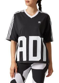 adidas Bold Age Graphic V-Neck Tee
