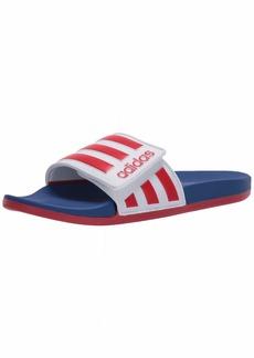 adidas Boys' Adilette Comfort Adj Slide Sandal   M US