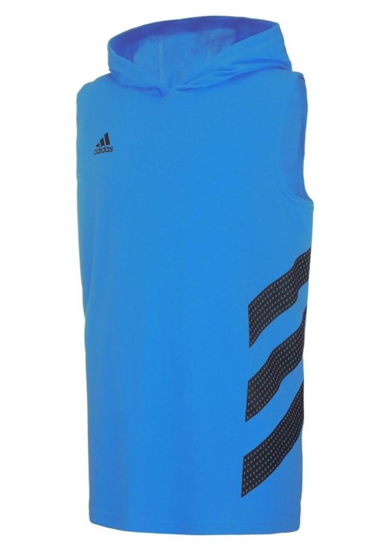 Adidas Boy's Basketball Stripe Cotton Hoodie