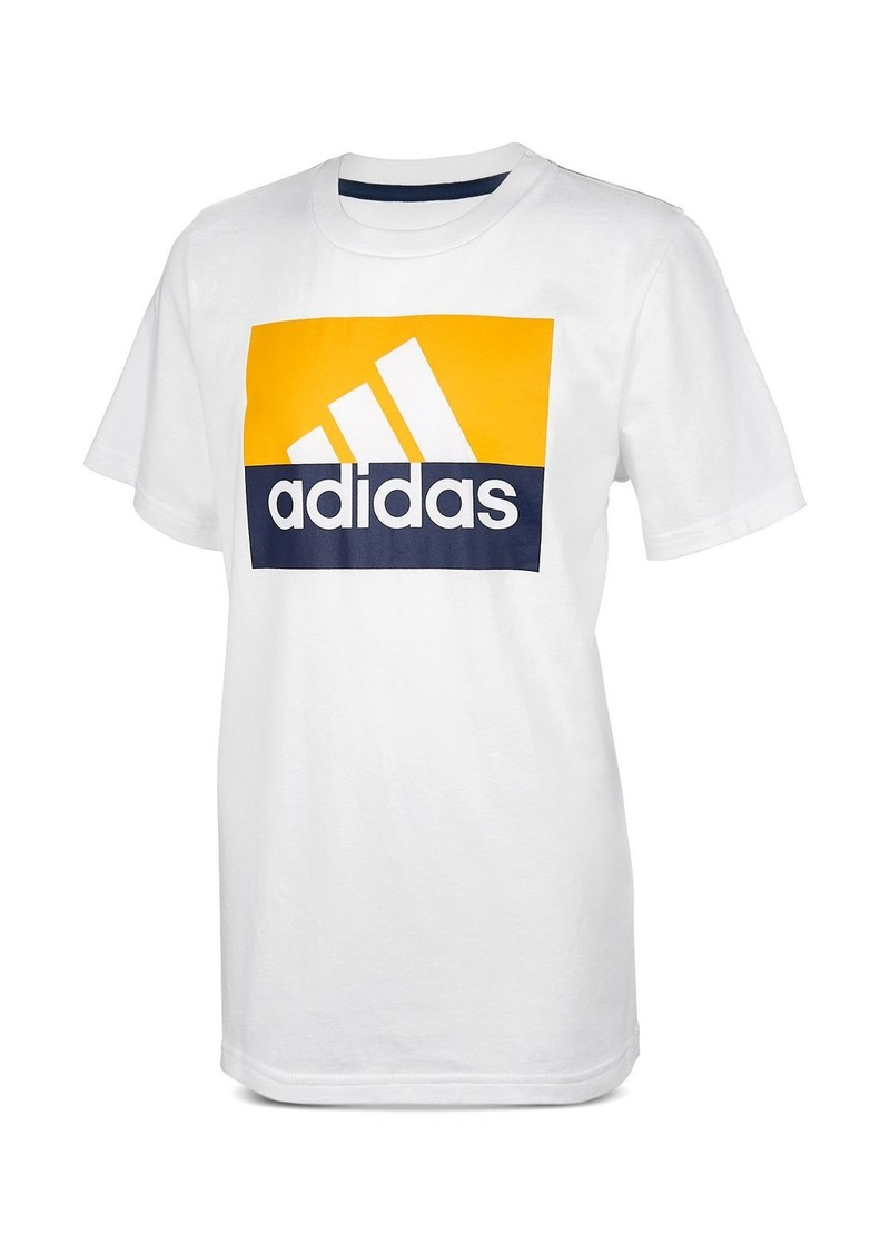 Adidas Boys' Block Logo Tee - Big Kid