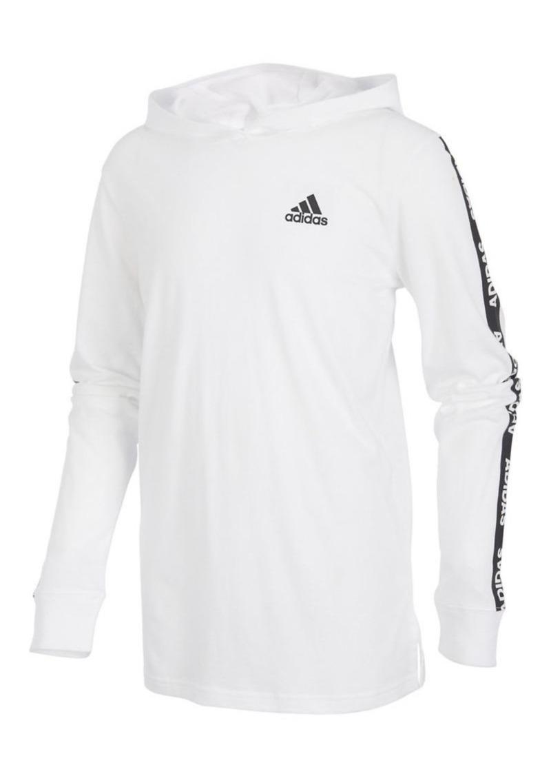 Adidas Boy's Branded Sleeve Hoodie