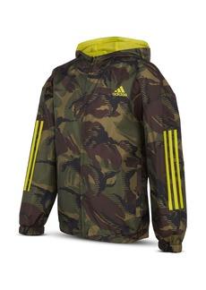 Adidas Boys' Camo Ripstop Wind Jacket - Big Kid