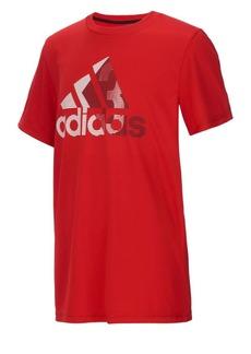 Adidas Boy's Climalite Badge Of Sport Short-Sleeve Tee