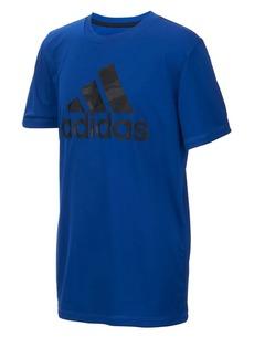 Adidas Boy's Climalite Camo Logo Tee