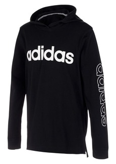 Adidas Boy's Linear Logo Hooded Tee