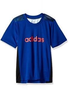 Adidas Boys' Little Short Sleeve Graphic Tee Shirts Collegiate Royal