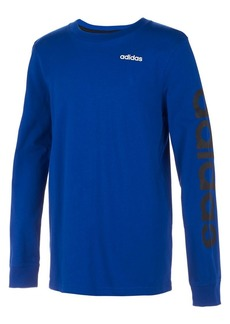 Adidas Boy's Long-Sleeve Linear Tee