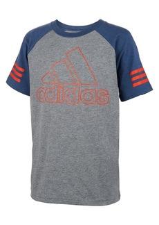Adidas Boy's Outline Cotton Blend Raglan Tee