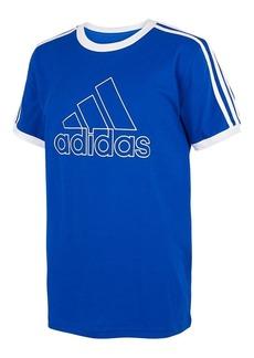 Adidas Boy's Ringer Short-Sleeve Cotton Tee