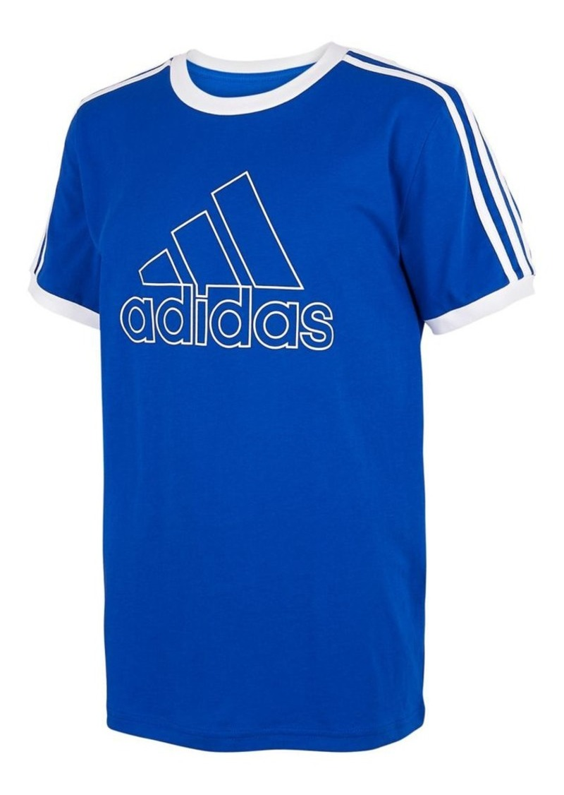 Adidas Boy's Ringer Short-Sleeve Cotton Tee