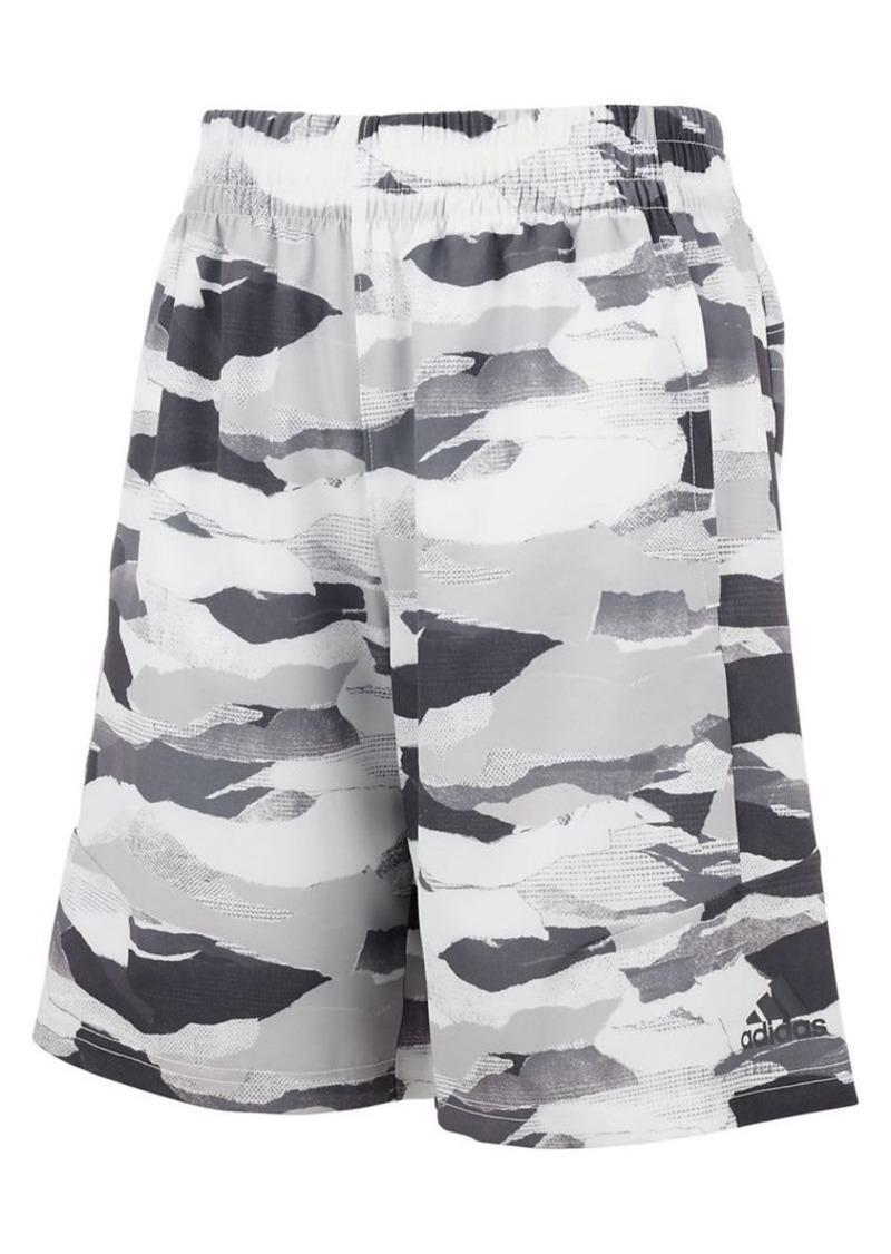 Adidas Boy's Running Camo Woven Shorts