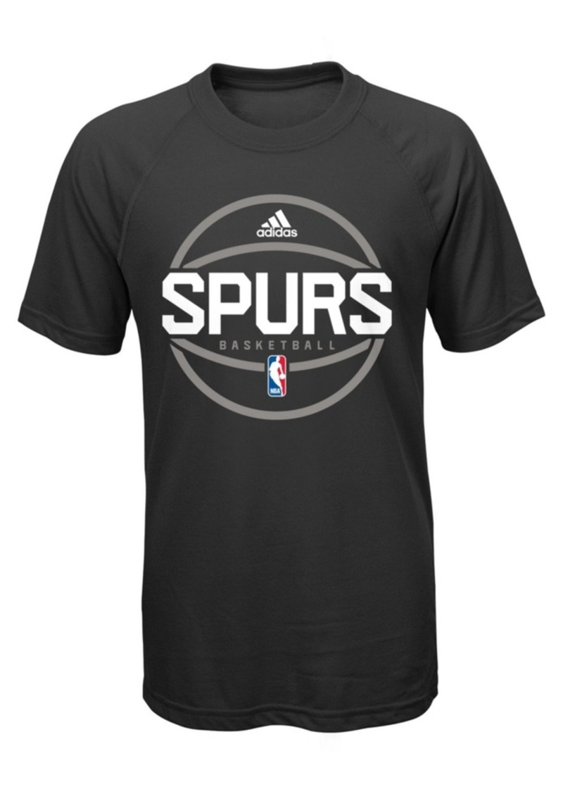 e40f06f1 Adidas adidas Boys' San Antonio Spurs Practice Wear Ultimate T-Shirt ...