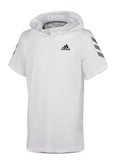 Adidas Boys' Striped-Sleeve Hooded Tee - Big Kid