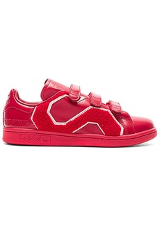 adidas by Raf Simons Stan Smith Comfort Badge Sneaker in Red. - size 7.5 (also in 5,5.5,6,8,9)