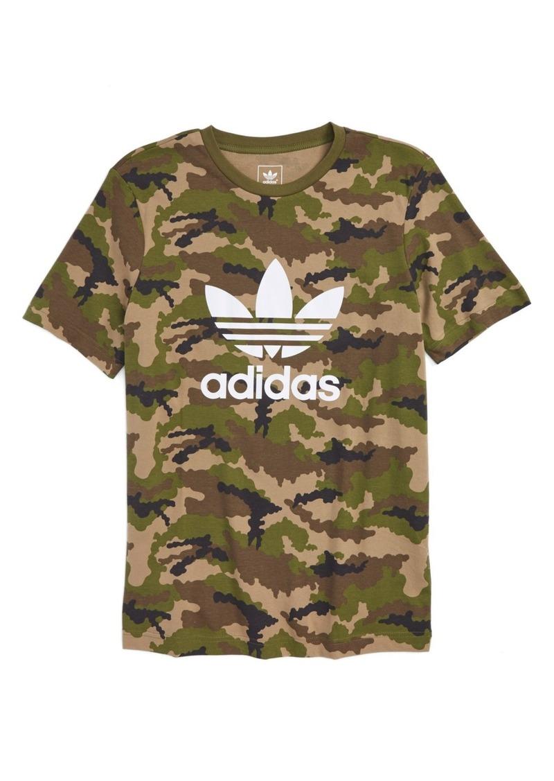 adidas Camo Print Trefoil Graphic T-Shirt (Little Boys & Big Boys)