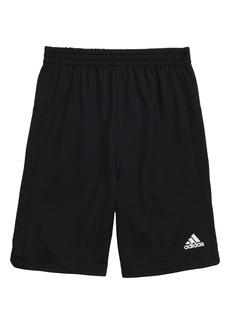 adidas Climalite® 3-Stripes Athletic Shorts (Toddler Boys & Little Boys)