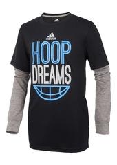 adidas ClimaLite Hoop Dreams Graphic-Print Shirt, Little Boys
