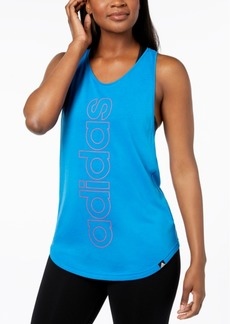 adidas ClimaLite Linear Logo Racerback Tank Top