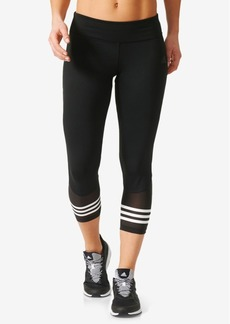 adidas ClimaLite Mesh-Trimmed Cropped Leggings
