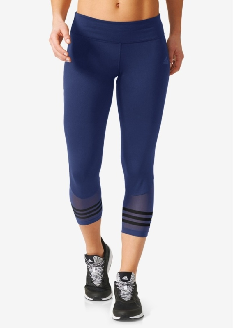 5a54405d656ea Adidas adidas ClimaLite Mesh-Trimmed Cropped Leggings Now $37.99