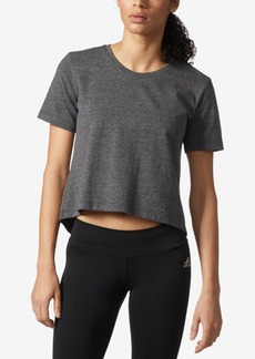 adidas ClimaLite Open-Back Cropped T-Shirt