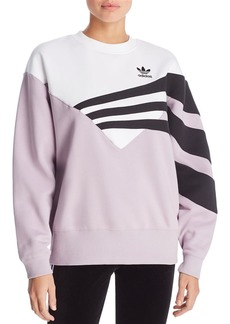 Adidas Color-Block Triple Stripe Sweatshirt