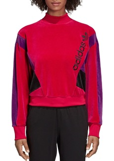 Adidas Color-Block Velour Sweatshirt