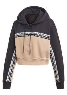 Adidas Colorblock Cropped Hoodie