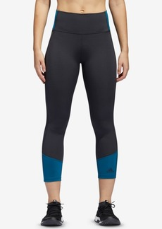 adidas Colorblocked High-Waist Cropped Leggings