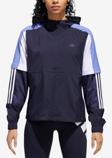 adidas Colorblocked Mesh-Trimmed Windbreaker