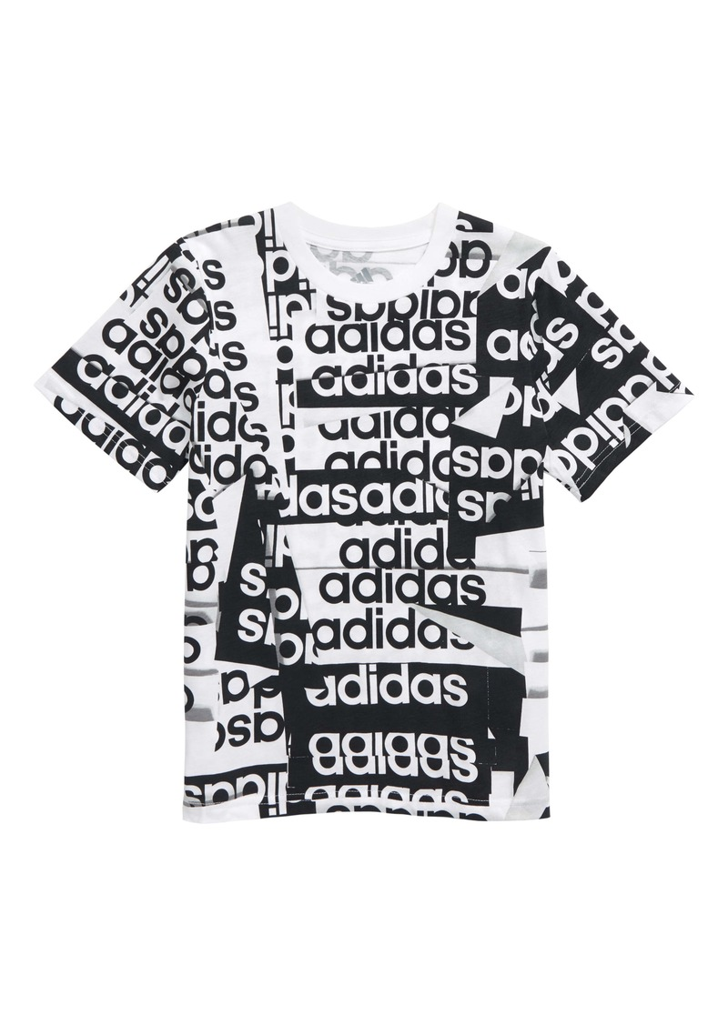 adidas Core Linear Graphic Tee (Big Boy)
