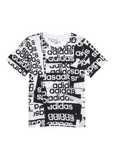 adidas Core Linear Graphic Tee (Toddler & Little Boy)